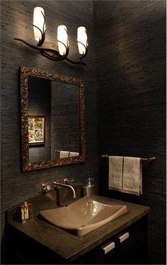 Dark Country/Rustic Bathroom by David Kaplan