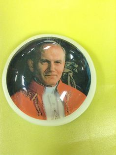 Pope John Paul II paper weight. So heavy on your paper!