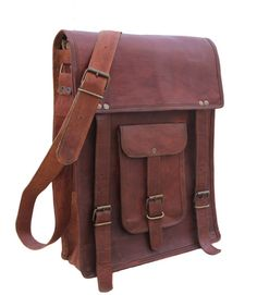 Father s day gift 15 inches Leather Messenger bag  Handbags  Portfolio Bag  Cross Body Laptop Retro Satchel Ipad Pouch Case For him or her