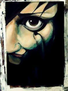 #painting #bigeye #eye #girl #women #portrait #illustration #people #human #art #artist #myart