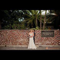 Bride and Groom at Ernest Hemingway Home & Museum - Key West, FL #keywestwedding #Hemingwayhouse #keysdj