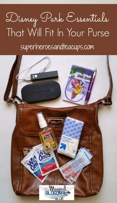 Disney Park Essentials That Will Fit In Your Purse