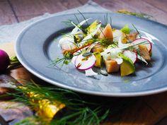 Uzená makrela, skyr, avokádo a fenykl I Chef, Caprese Salad, Insalata Caprese