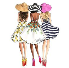 FEATURING: @hnicholsillustration #SummerVibes #FashionIllustrations  Be Inspirational ❥ Mz. Manerz: Being well dressed is a beautiful form of confidence, happiness & politeness