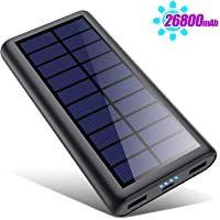 La taille compacte de la batterie externe solaire a une capacité élevée de 26800 mah. Des panneaux solaires de haute qualité chargent la batterie chaque fois qu'il y a de la lumière, ce qui est une bonne aide pour les longs voyages, la randonnée, l'escalade, le camping et les pannes de courant inattendues... Ipad Pro, Nintendo Switch, Usb, Galaxy, Electronics, Escalade, Tech, Aide, Camping