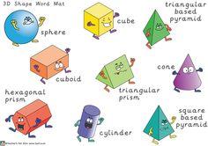 Teacher's Pet - KS2 3D Shape Property Posters - FREE Classroom Display Resource - EYFS, KS1, KS2, vertex, vertices, edges, faces, 3D, shape 3d Shapes Ks1, 3d Shapes Activities, 2d And 3d Shapes, Teaching Shapes, Teaching Math, Math Activities, School Displays, Classroom Displays, Preschool Math
