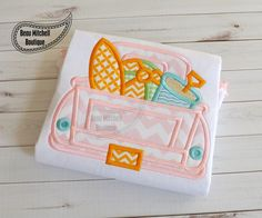 Surf Truck applique embroidery design by BeauMitchellBoutique on Etsy https://www.etsy.com/listing/183532681/surf-truck-applique-embroidery-design