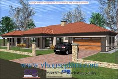 House Plans Mansion, 4 Bedroom House Plans, My House Plans, Single Storey House Plans, Tuscan House Plans, House Plans South Africa, Building Costs, Architectural House Plans, My Dream Home
