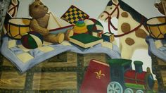 Nursery Children Rocking Horse Bear Train Wide Wallpaper Border Imperial BK2361B in Home & Garden, Home Improvement, Building & Hardware | eBay