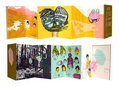 Chelsea Wong | book & zine | her eyes glowed pink / full spread / hand screen printed