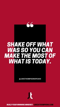 You'll have a hard time making the most of your next opportunity if you're constantly replaying a past one in your head. Be where your feet are so you can win today. Leadership Games, What Is Today, Silly Questions, Good Employee, Slow Burn, To Strive, Keynote Speakers, Shake It Off, Growth Mindset