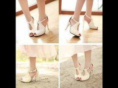 รองเท้าแฟชั่นเกาหลีสีขาวอินเทรนด์ใหม่ล่าสุดครบทุกสไตล์ที่ LOTUSNOSS.COM - YouTube
