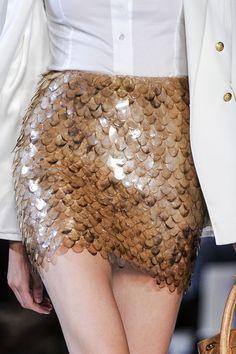 #Gold skirt details
