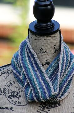 Interrupted Stripe Cowl: Made with 150 - 200 yards of worsted weight yarn and size US 7 needles