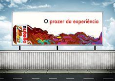 Trabalho acadêmico: Outdoor de campanha da Nutella baseada no design dos anos 60/70 - Psicodelismo.
