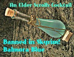 A sweet and sour, citrusy drink based on a potion from Elder Scrolls V: Skyrim.  http://boozybarista.wordpress.com/2014/02/13/balmora-blue-a-la-elder-scrolls/