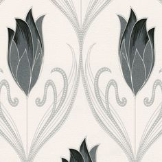 Belgravia Crystal Floral Glitter Wallpaper - Charcoal - http://godecorating.co.uk/belgravia-crystal-floral-glitter-wallpaper-charcoal/