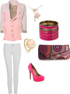 pinkpink, created by asraahmed on Polyvore