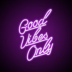 You only live once so it's time to spread happiness with the Good Vibes Only neon light. It will definitely make you smile with its modern purple neon light.
