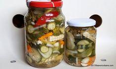 Pepeni in otet cu castraveti murati pentru iarna reteta savori urbane Preserves, Pickles, Cucumber, Mason Jars, Frozen, Urban, Canning, Tableware, Food