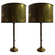 Pair Mid Century Brass Lamps | From a unique collection of antique and modern table lamps at http://www.1stdibs.com/furniture/lighting/table-lamps/