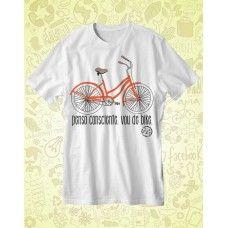 Camisa AMA TERRA Branca Vou de Bike - ATA079