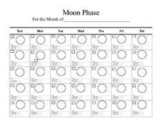 Kids Moon Phases Calendar Printable   Calendar Template 2016