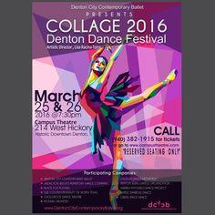 Create a striking poster design for COLLAGE Denton Dance Festival! by DemonicArt