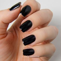 Black Acrylic Nails, Square Acrylic Nails, Best Acrylic Nails, Black Manicure, Black Acrylics, Cute Nails, Pretty Nails, Faux Ongles Gel, Acylic Nails