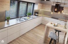 Modern Kitchen Interiors, Home Decor Kitchen, Home Kitchens, Galley Kitchen Design, Modern Kitchen Design, Kitchen Cabinet Accessories, Kitchen Modular, Industrial Style Kitchen, Scandinavian Kitchen