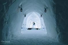 Joni and Elina weddings in lapland Levi – Ice chapel Luvattumaa