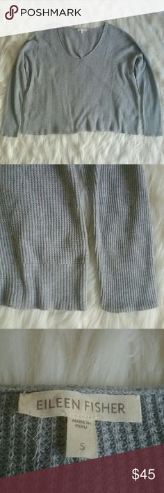 Eileen Fisher Organic Cotton long sleeve top This top would be perfect with black leggings or skinny jeans.  Lightweight. Good condition. 100% Organic cotton. Size small.  Armpit to armpit: 25 inches (meant to be baggy)  Length: 22 inches Eileen Fisher Tops Tees - Long Sleeve