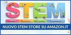 E' arrivato il nuovo STEM Store di Amazon Italia, un'intera sezione dedicata solo ai giocattoli scientifici ed educativi La sezione dedicata ai giocattoli STEM (Science, Technology, Engineering, Math) di Amazon Italia è finalmente stata rinnovata. Qui potrete trovare esclusivamente dei giocatoli scientifici ed educativ