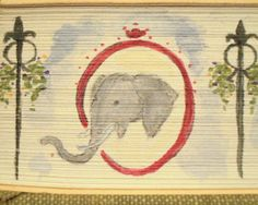 An Elephant a Day: Elephant No. 286: Fore-Edge Painting