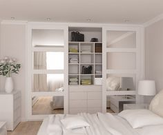 Vetro sliding doors wardrobe with mirrored inserts