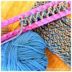Loom knit scarf!