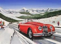 gouche paintings of classic cars - Bing images