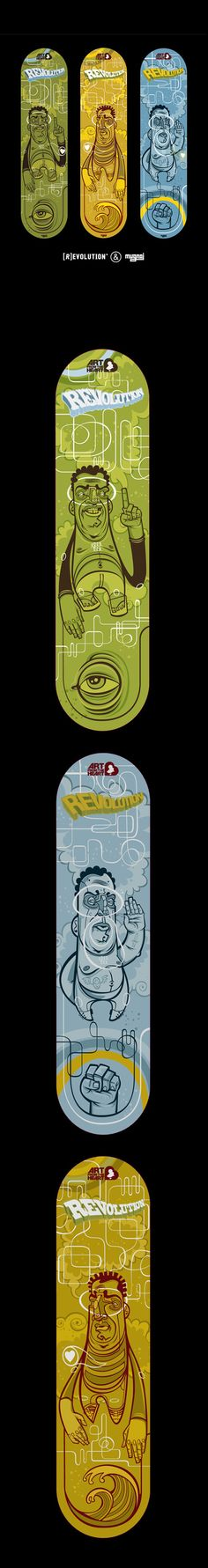 REVOLUTION SKATE DECKS on Behance