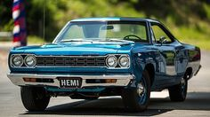 """""""1968 Plymouth Hemi RoadRunner"""" Maintenance/restoration of old/vintage vehicles: the material for new cogs/casters/gears/pads could be cast polyamide which I (Cast polyamide) can produce. My contact: tatjana.alic@windowslive.com"""