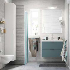 Piastrelle bagno moderno - Piastrelle bagno grigie di Ikea