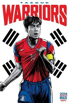 South Korea ESPN hired Brazilian artist Cristiano Siqueira to make unique World Cup posters for all 32 teams in the tournament
