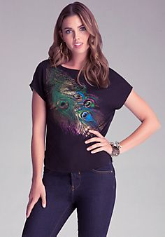 Peacock Feather Boxy T