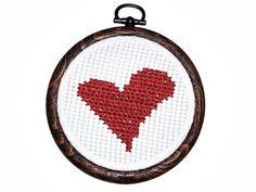 Small Heart Cross Stitch sustainable fashion by designbySEMY, $22.00