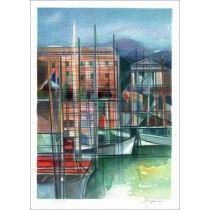 """HILAIRE Camille - Lithographie Originale """"Côte d'Azur, Le Port de Nice"""" 50x37cm"""