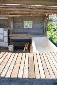 Washing Station with tub