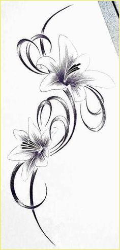ideas to draw pencil body tattoo ideas – girl power tattoo Calla Lily Tattoos, Tiger Lily Tattoos, Tattoos Skull, Body Tattoos, Flower Tattoos, Feather Tattoos, Home Tattoo, Tattoo Blog, Flower Pattern Drawing