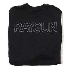 87b69afdc8148 RAYGUN Text Logo Outline Crew Sweatshirt Logo Outline