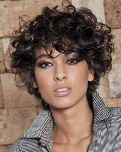 Short sides longer top curly haircut