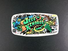 Jeff Kendall - Graffiti sticker - SANTA CRUZ 1986 - de la boutique fabuleusecaverne sur Etsy