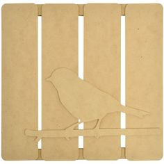 """Beyond The Page MDF Bird On Twig 3D Wall Art-11.5""""""""X11.25""""""""X.5"""""""""""